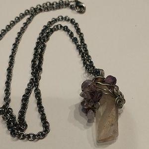 🇨🇦 Rose Quartz & Amethyst Necklace